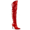 CLASSIQUE-3011 Red Faux Leather